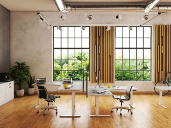 E Vision Corner Height Adjustable Sit to Stand Desk