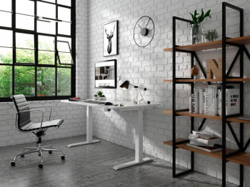 E Vision Straight Height Adjustable Sit to Stand Desk